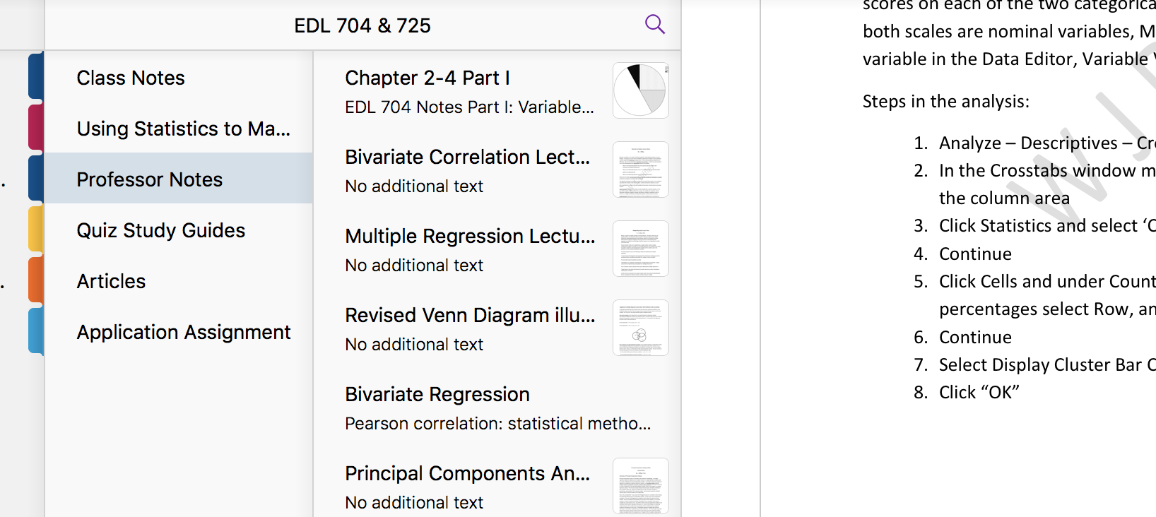 screenshot of OneNote notebook